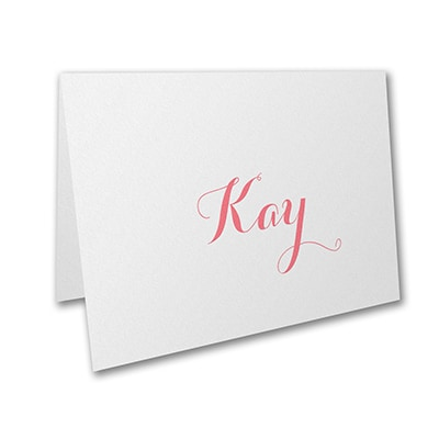 White - Note Card and Envelope