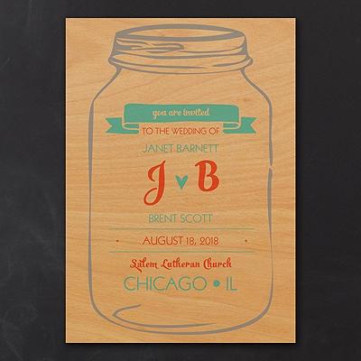 Rustic Jar - Invitation