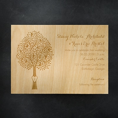 Etched Tree - Invitation