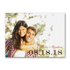Big Date - Photo Save the Date Card