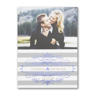 Stripes and Shine - Save the Date Card