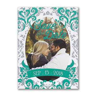 Gleaming Damask - Photo Save the Date