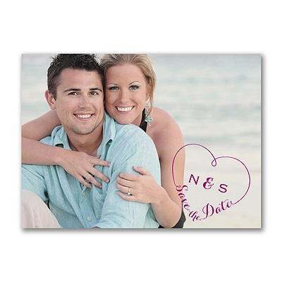In Our Heart - Photo Save the Date Postcard