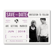 Banner Date - Photo Save the Date Postcard