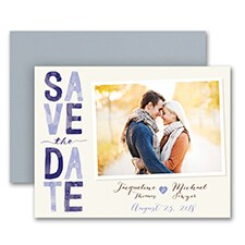 Colorful Typography - Photo Save the Date Magnet - Lavender