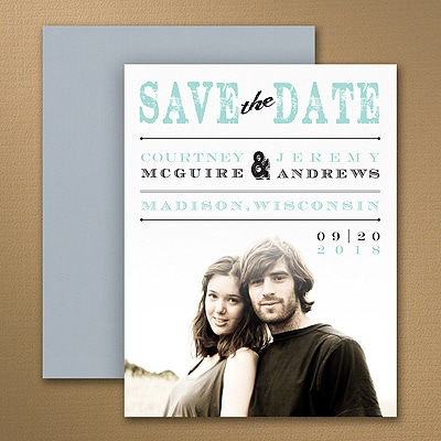 Vintage Stamp - Photo Save the Date Magnet