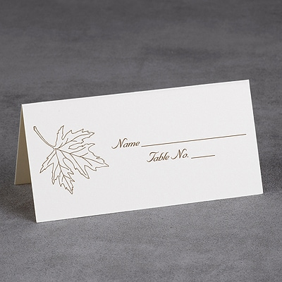 printed ecru place card - Printed Place Cards