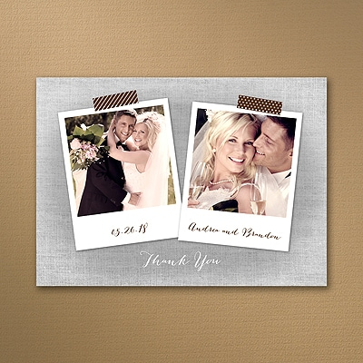 Rustic Scrapbook - Photo Thank You Note