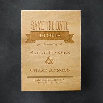 Etched Banners - Save the Date