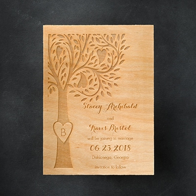 Etched Tree - Save the Date