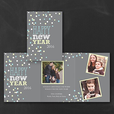 New Year Bubbles - Holiday Card
