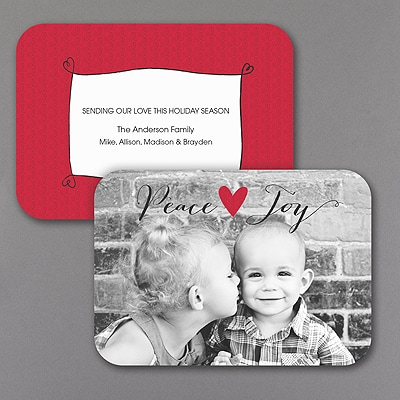 Joyful Heart - Holiday Card - Rounded Corners