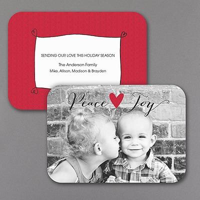 Joyful Heart - Holiday Card - Rounded Corners