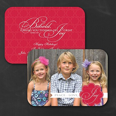 Great Joy - Holiday Card - Rounded Corners