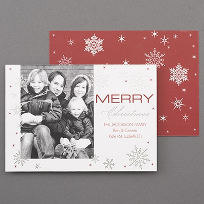 Sparkling Snowflakes - Holiday Card
