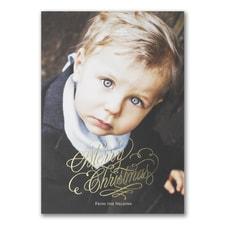 Pinecone Christmas - Photo Holiday Card
