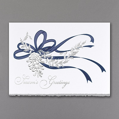 Pine Cone in Silver - Holiday Card