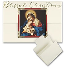 Madonna and Child - Christmas Card