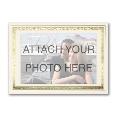 Gold Border Photo Frame - Horizontal