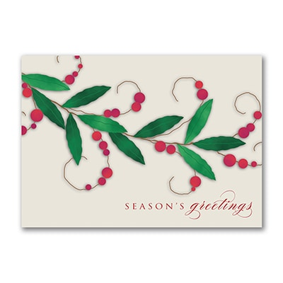 Red Berry Branch - Holiday Card