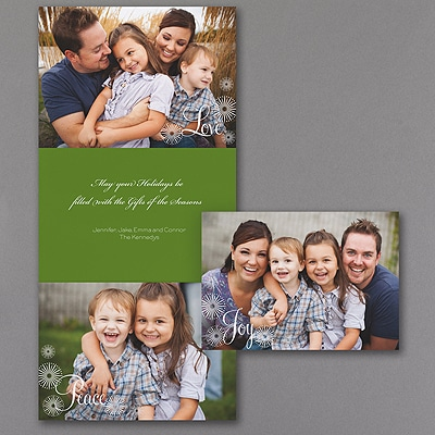 Joy, Hope, Peace - Holiday Card - Cloverleaf