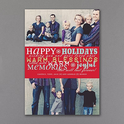Word Play - Photo Holiday Card