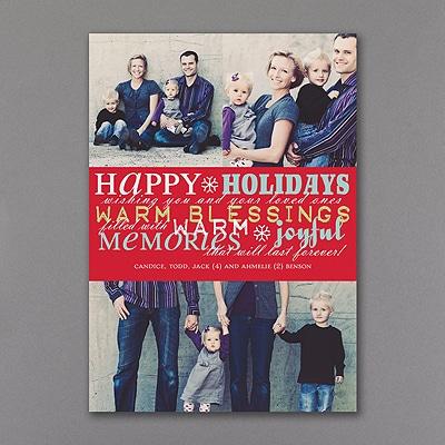 Word Play - Photo Holiday Card