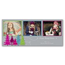 Contemporary Trees - Photo Holiday Card