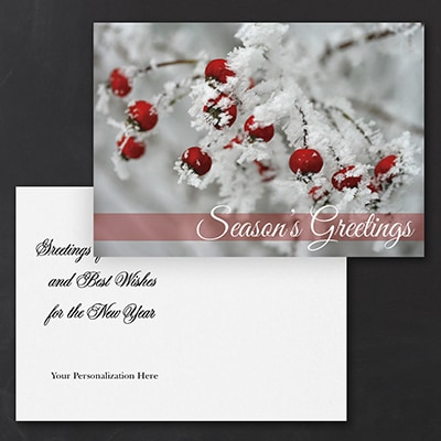 Frosted Greeting Holiday Postcard