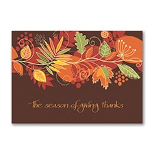 Giving Thanks Thanksgiving Card