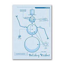 Snowman Blueprint - Holiday Card