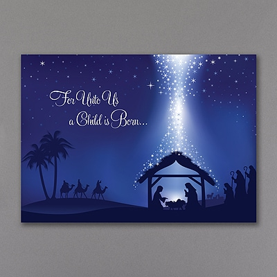 For Unto Us A Child - Christmas Card