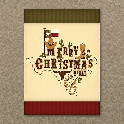 Texas Christmas Cards.Texas Pride Christmas Card