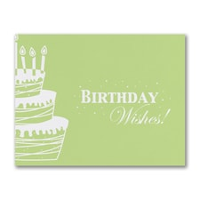 Wishes and Cake - Green