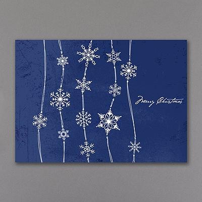 Midnight Blue Snowfall - Christmas Card