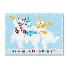 Whimsical Polar Bears - Holiday Card