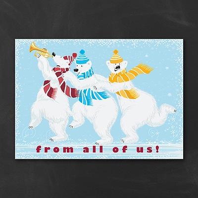 Whimsical Polar Bears - Holiday Card