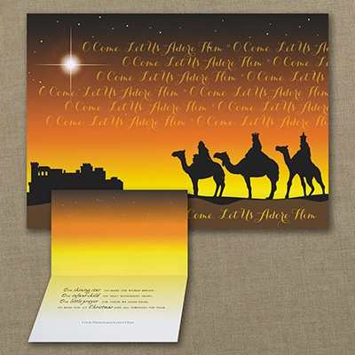 Wise Men Adore Him - Christmas Card