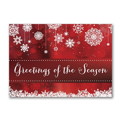 Seasonal Snowflakes - Postcard