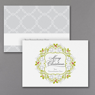 Fancy Wreath Panel - Christmas Card