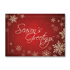 Season's Greetings Snowflakes - Holiday Card