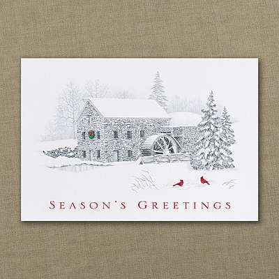 Gristmill Greeting - Holiday Card