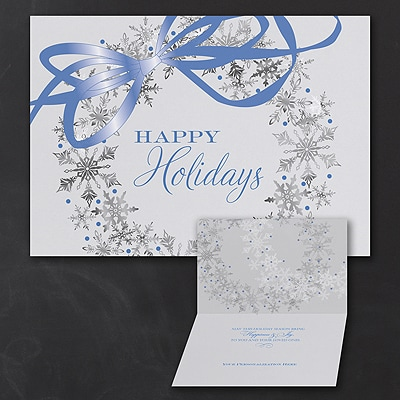Snowflake Wreath - Holiday Card
