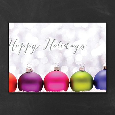 Colorful Ornaments - Holiday Card