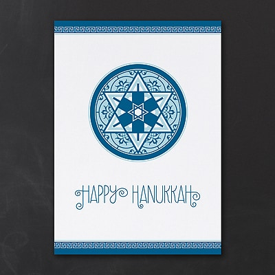 Star of David Dreidels Holiday Card