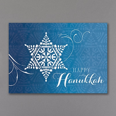 Star of David Snowflake Holiday Card