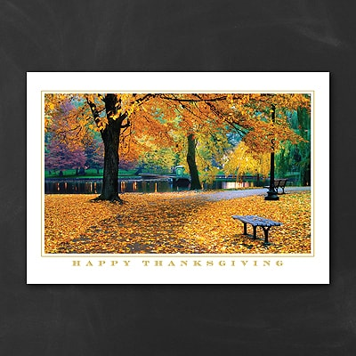 Thanksgiving Park Scene