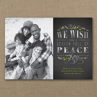 Chalkboard - Photo Holiday Card