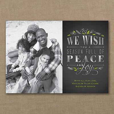 Chalkboard - Photo Holiday Card