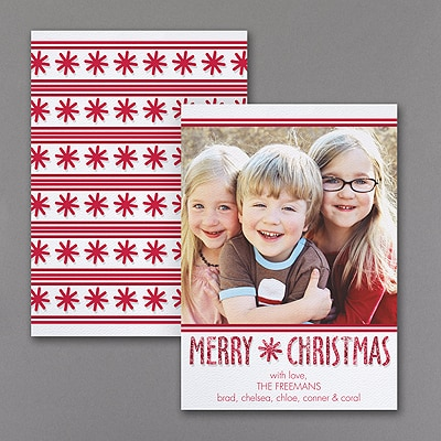 Merry Christmas - Photo Holiday Card